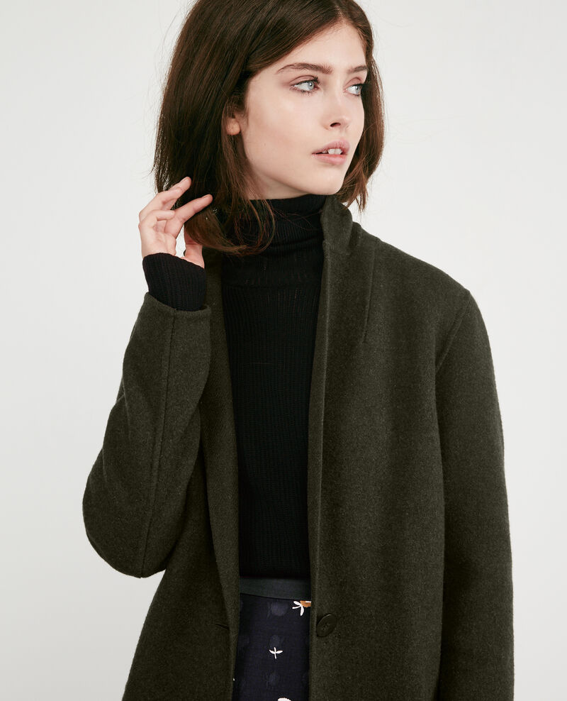 Double-faced wool coat Kaki Dexpresso