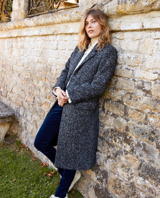 Tweed coat GREY MELANGE