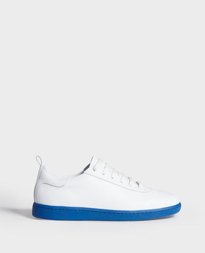 Leather sneakers  White princess blue Lead