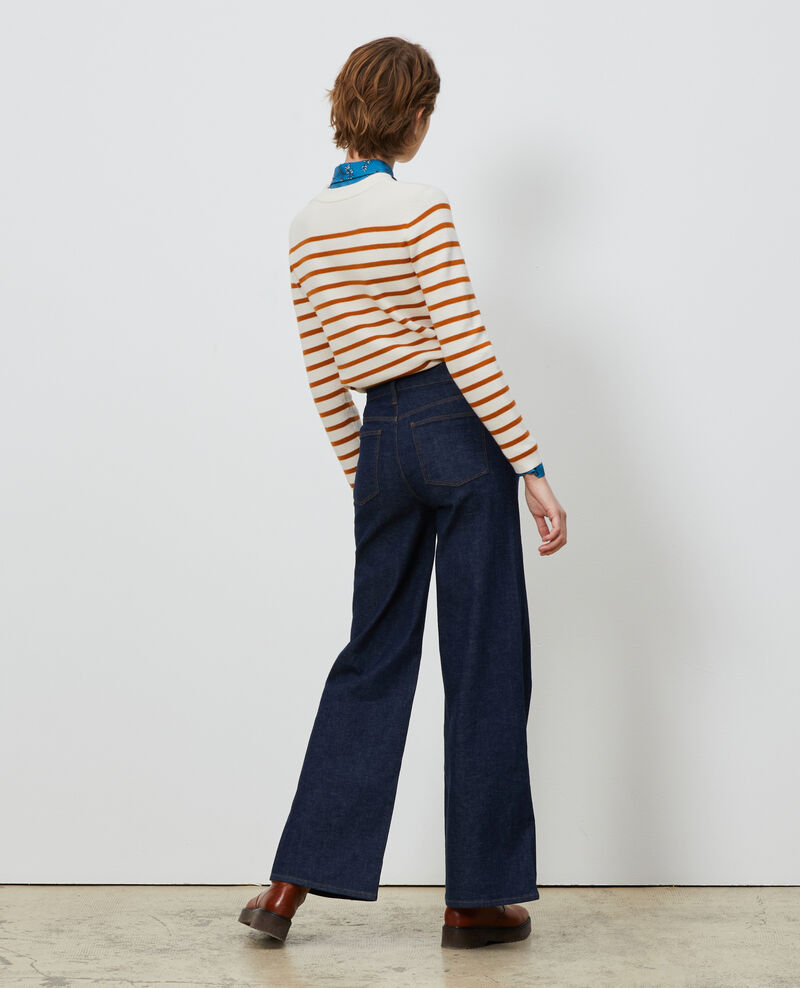 FLARE - High waisted flared jeans Denim rinse Neuflize