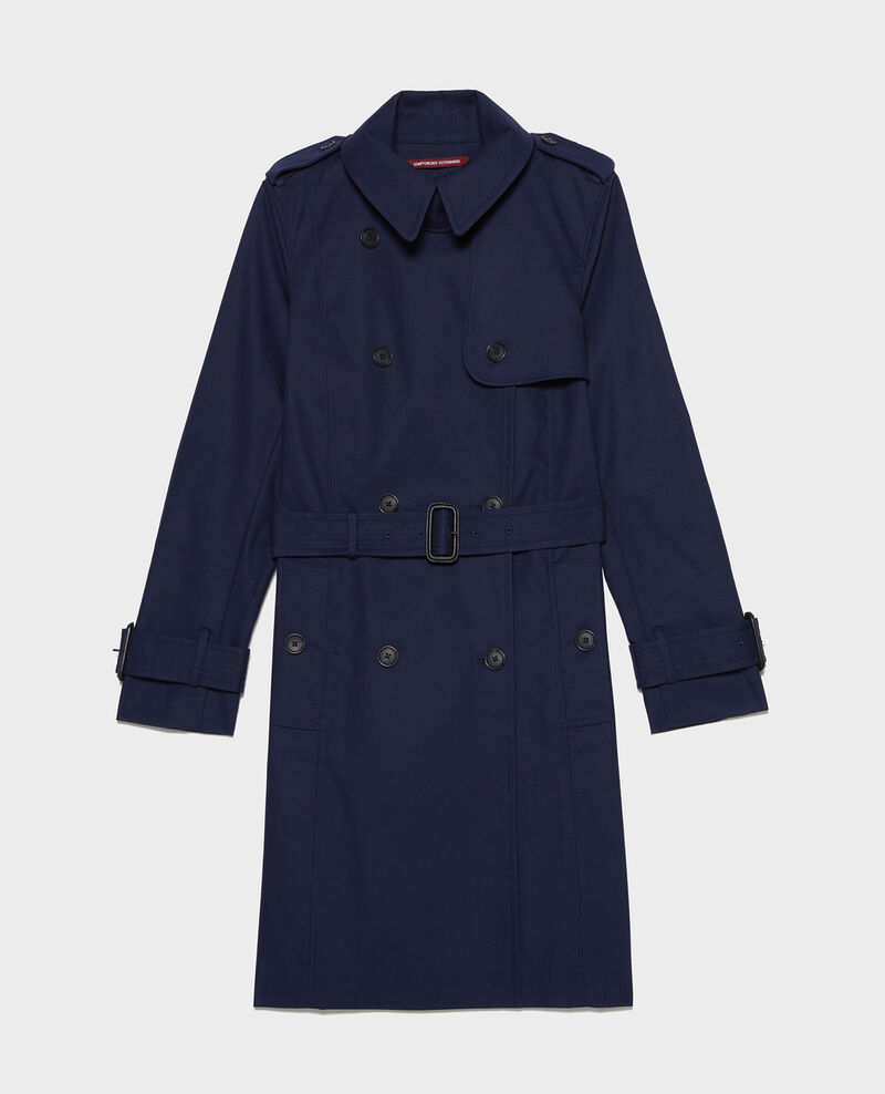 CATHERINE - Iconic cotton trench Maritime blue Lambert