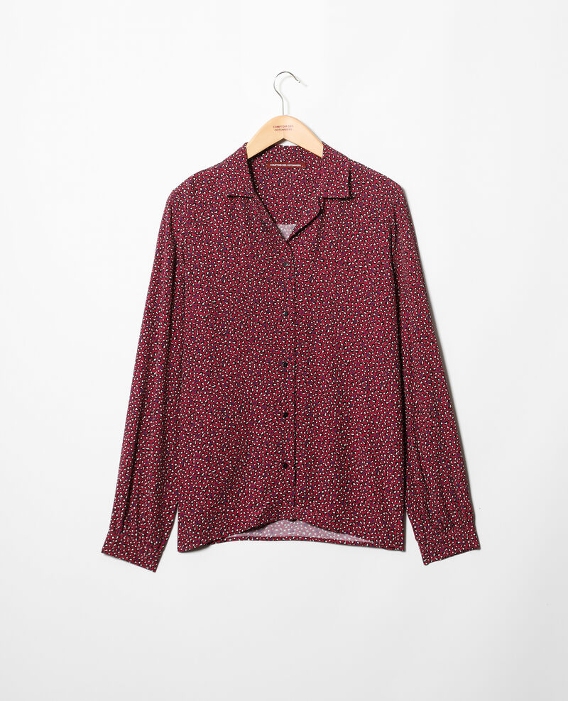 Deep neck shirt Red Gaby