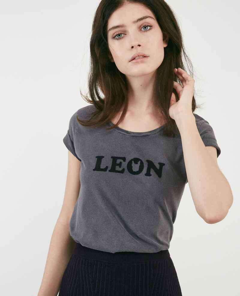 T-shirt with Léon print Light heather grey Daloupe