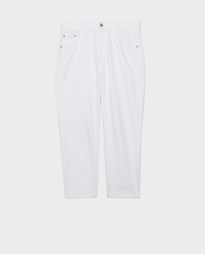 SLOUCHY - Loose, mid-rise 5-pocket jeans Winter white Meroni