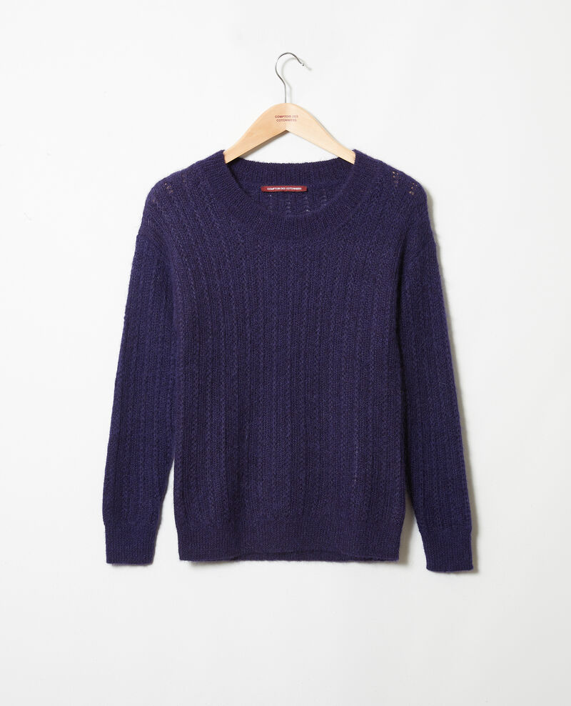 Novelty knit jumper Evening blue Joupy