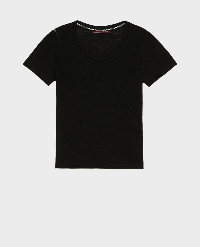 Linen T-shirt Black beauty Lye