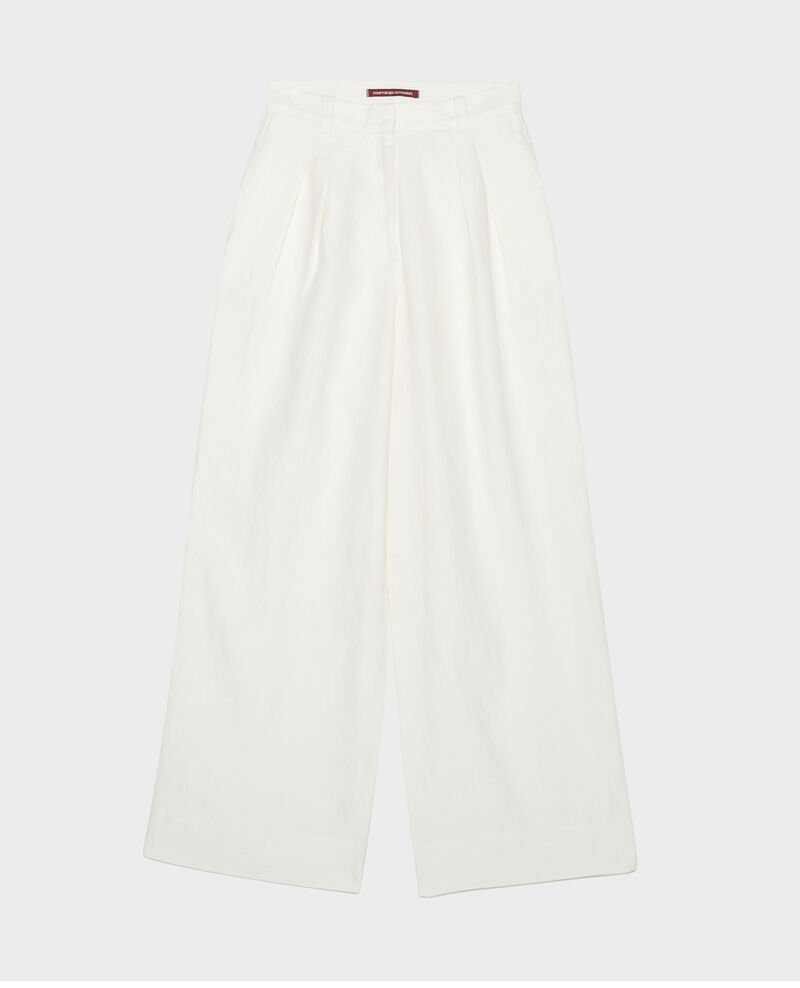 Linen high-waisted trousers YVONNE Gardenia Lafare