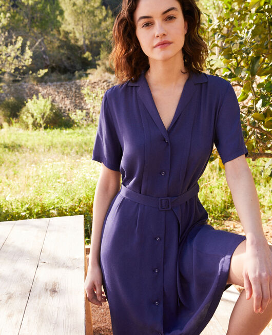 Robe col ouvert NAVY