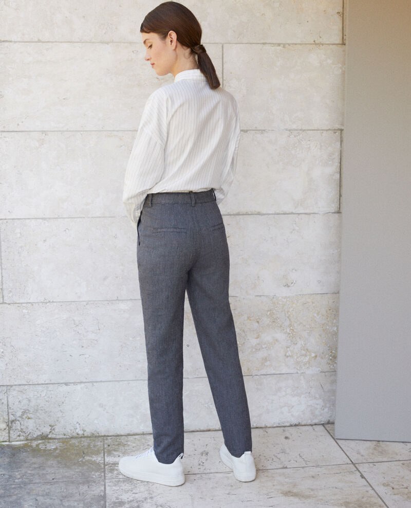 Linen and wool trousers Blue Gaulicien
