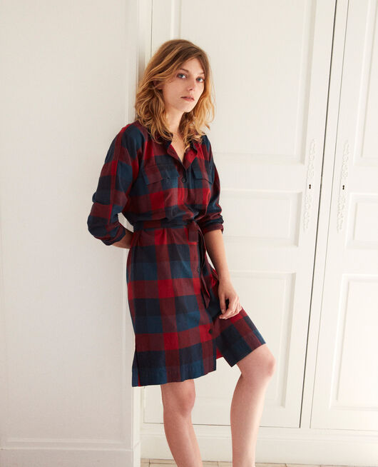 Chequered dress CHECK