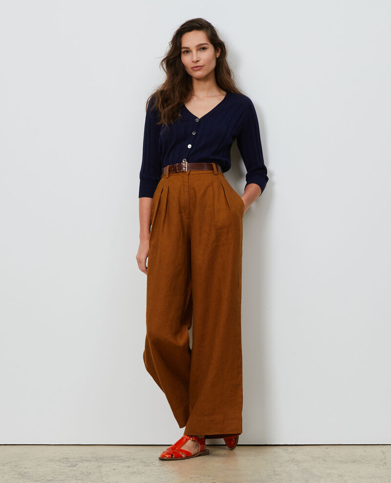 Linen high-waisted trousers Monks robe Lafare