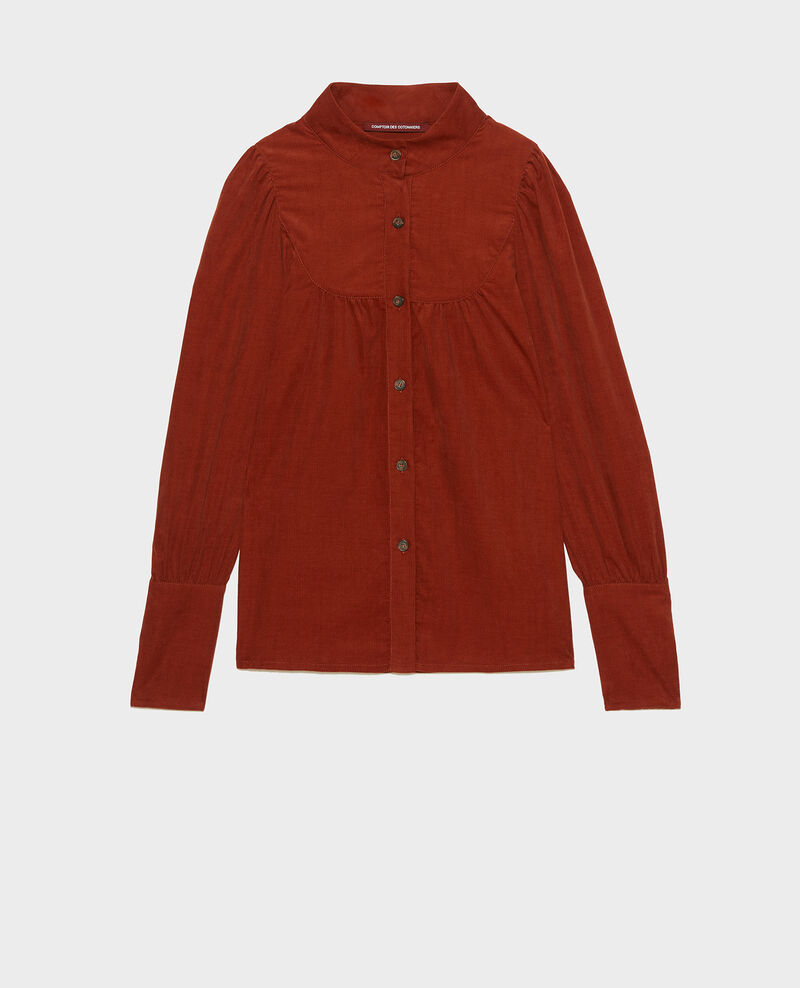 Corduroy yoke shirt Brandy brown Miglos