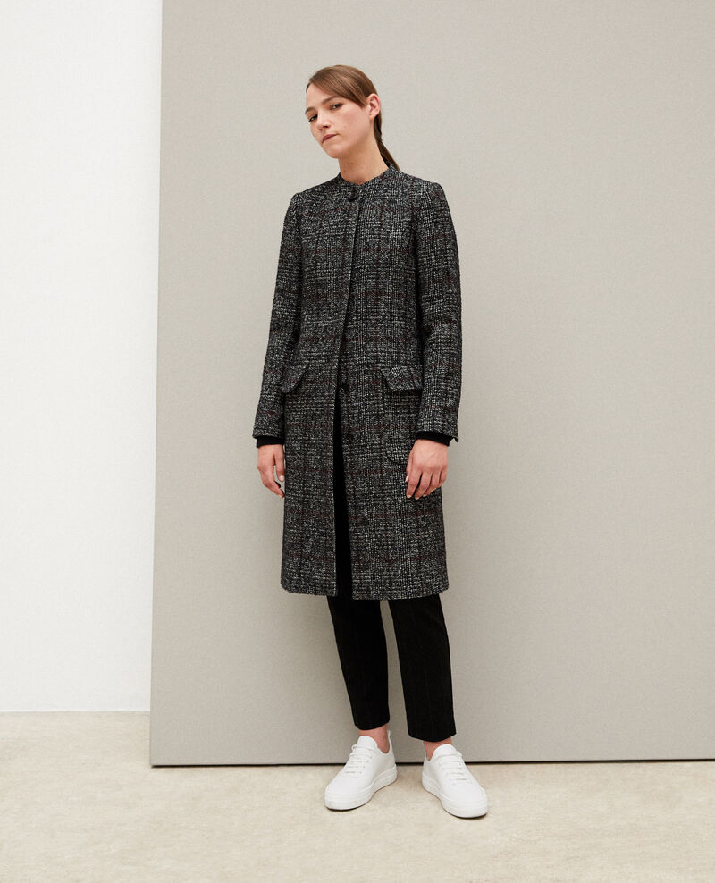 Straight fit coat Black Guislain