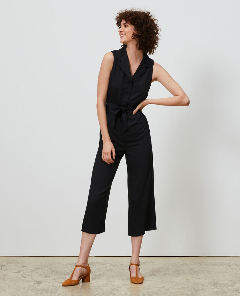 Jumpsuit with lapels Black beauty Narp