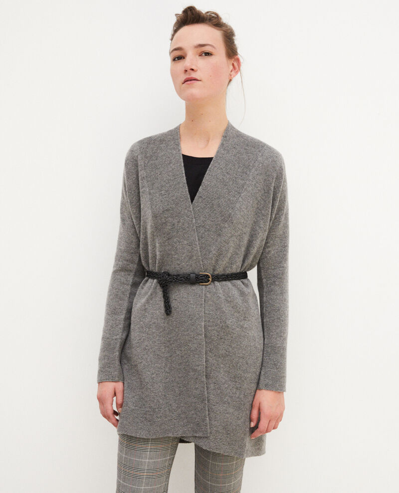 3D cashmere blend cardigan Medium heather grey Gelinda