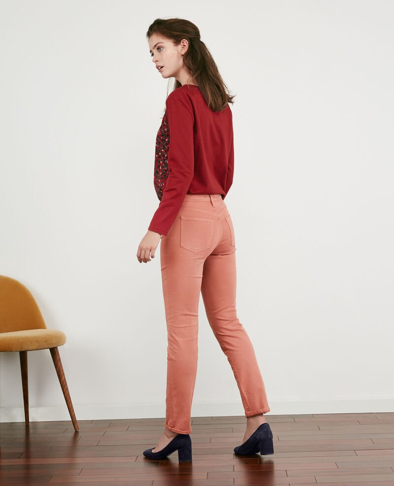Soft-touch cigarette-fit jeans Rose clay 9dhanna