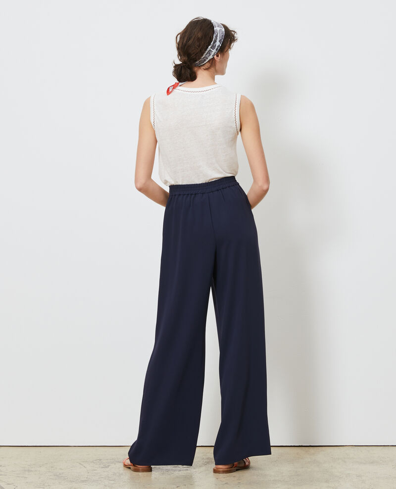 High waisted wide trousers Night sky Neplate