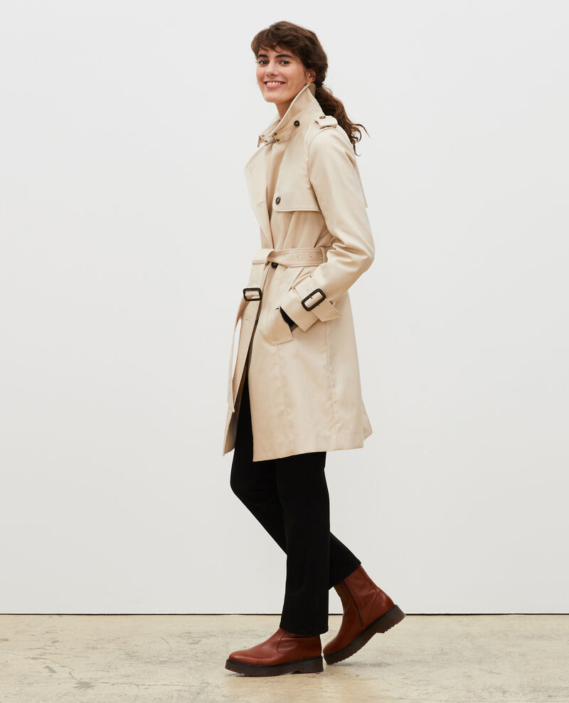 Iconic cotton trench Smoke gray Lambert