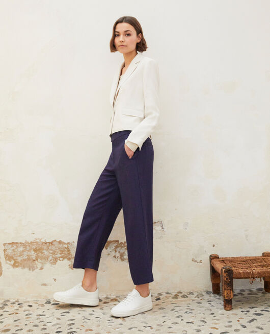 Loose fit trousers  INK NAVY