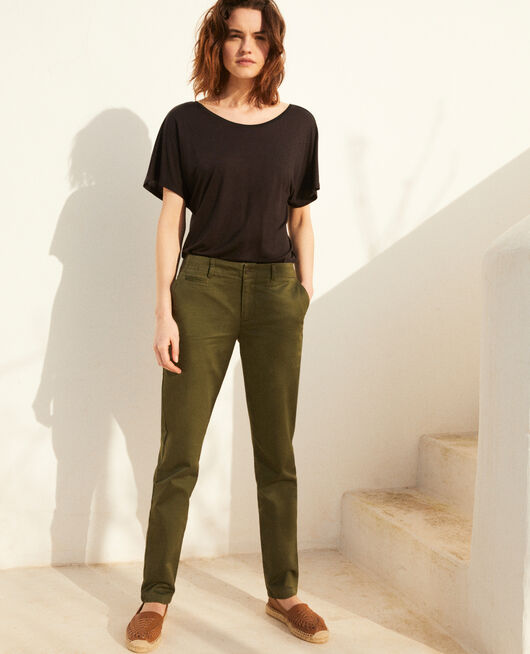 Canvas trousers CHENG OLIVE