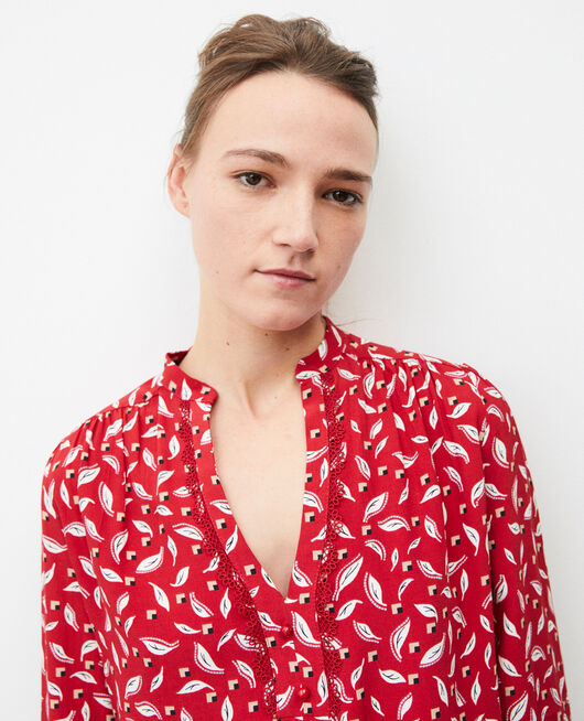 Henley blouse EARTH RED