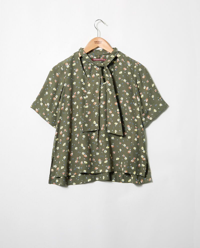 Printed blouse Coquelicot cheng olive 9ipexo