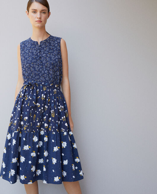Printed dress Blue