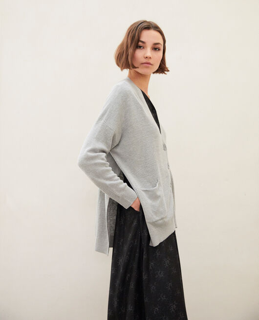 Oversize cardigan LIGHT GREY