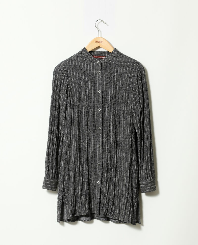 Crinkled soft shirt Grey Gasie