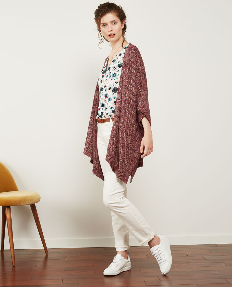 Cardigan with lurex details Purple/lurex Denada