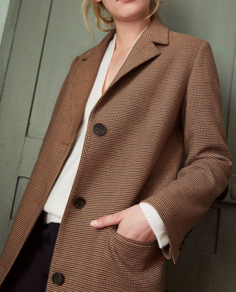 Mid-length coat Houndtooth Jita