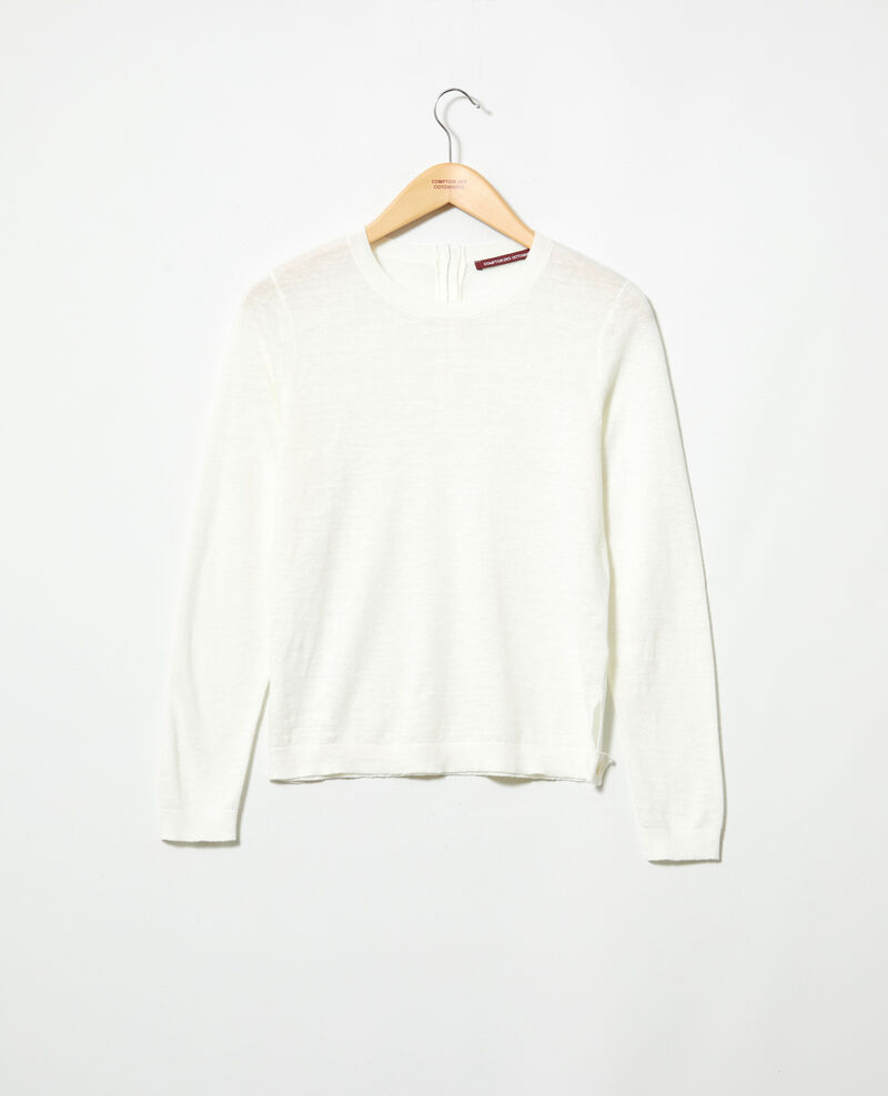 3D linen jumper Off white Isisa