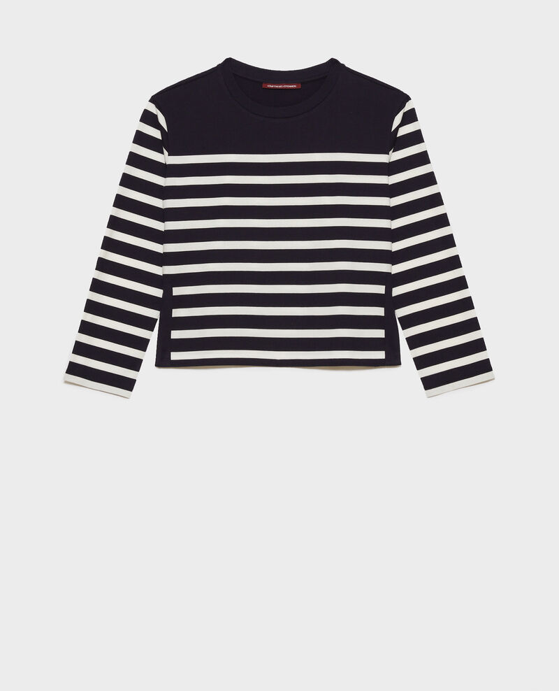 Long-sleeve striped t-shirt Stp nightsky cloud Martiel