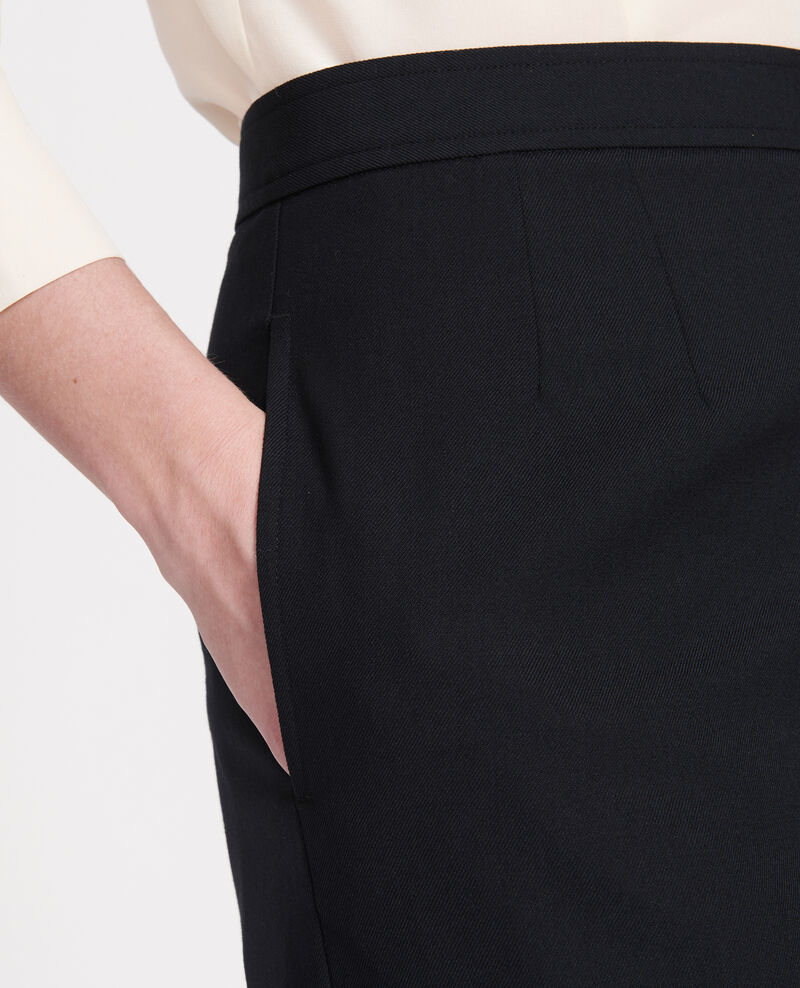 Smooth wool bermuda shorts Black beauty Lancelou