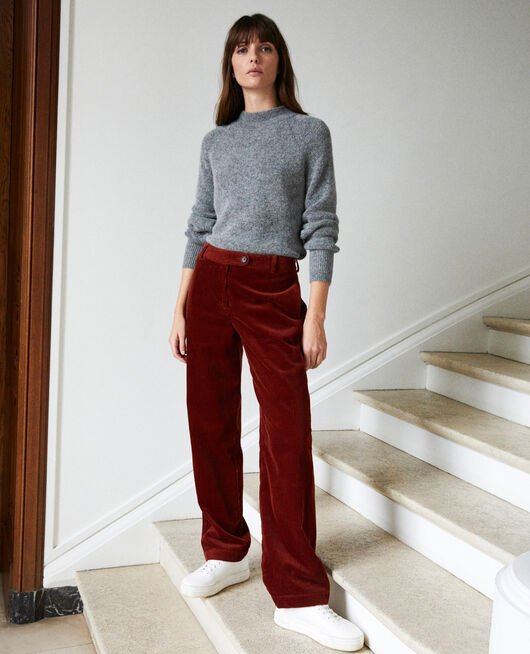 Corduroy trousers BRANDY BROWN