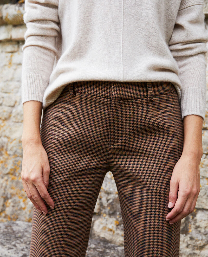 Straight-leg trousers Houndtooth Jillica
