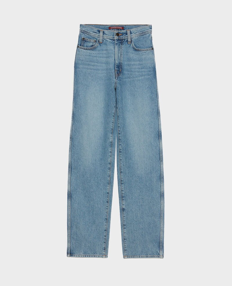 REGULAR - Loose high-waisted jeans Vintage wash Nastage