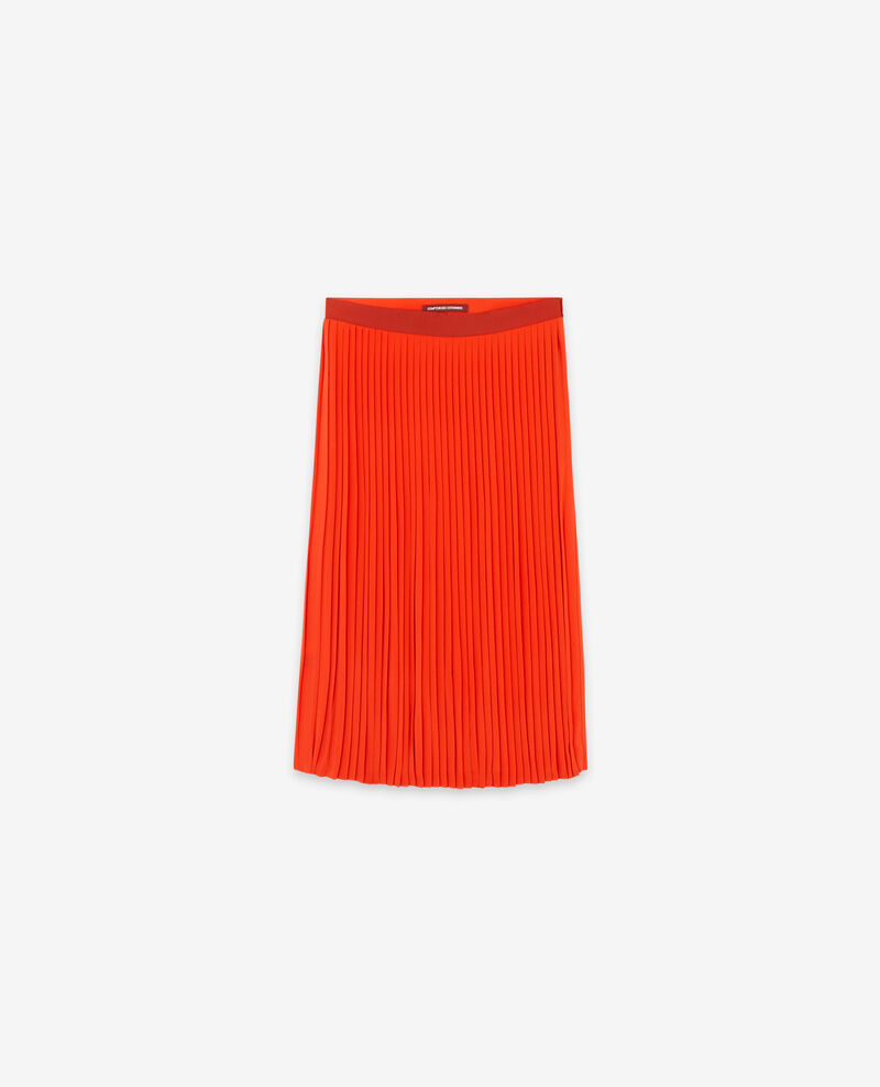 Pleated skirt Orange red Dallerine