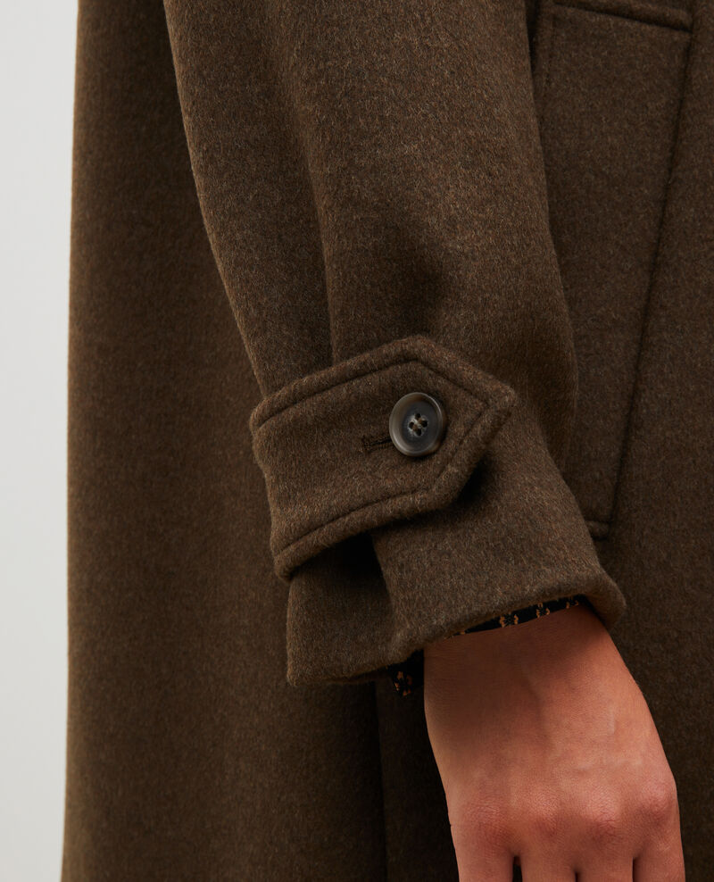 Loose wool and cashmere coat Kaki Madriat