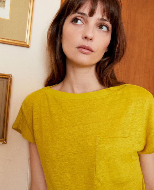 Boatneck t-shirt ANTIQUE MOSS