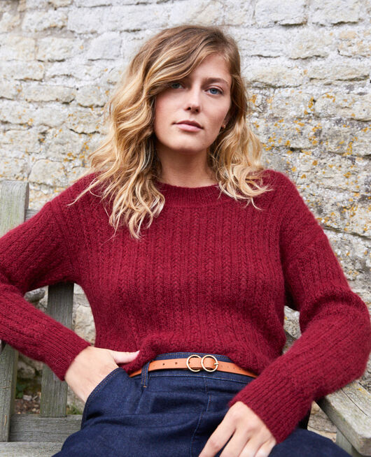 Novelty knit jumper CABERNET