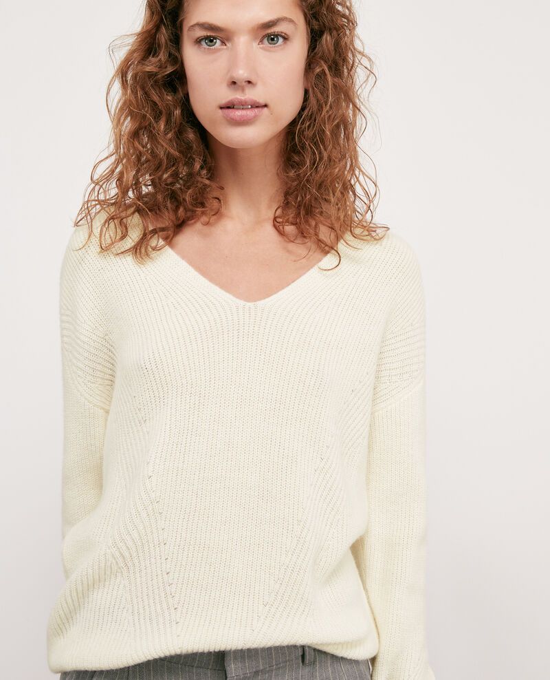 Woll and alpaca jumper Off white Darren