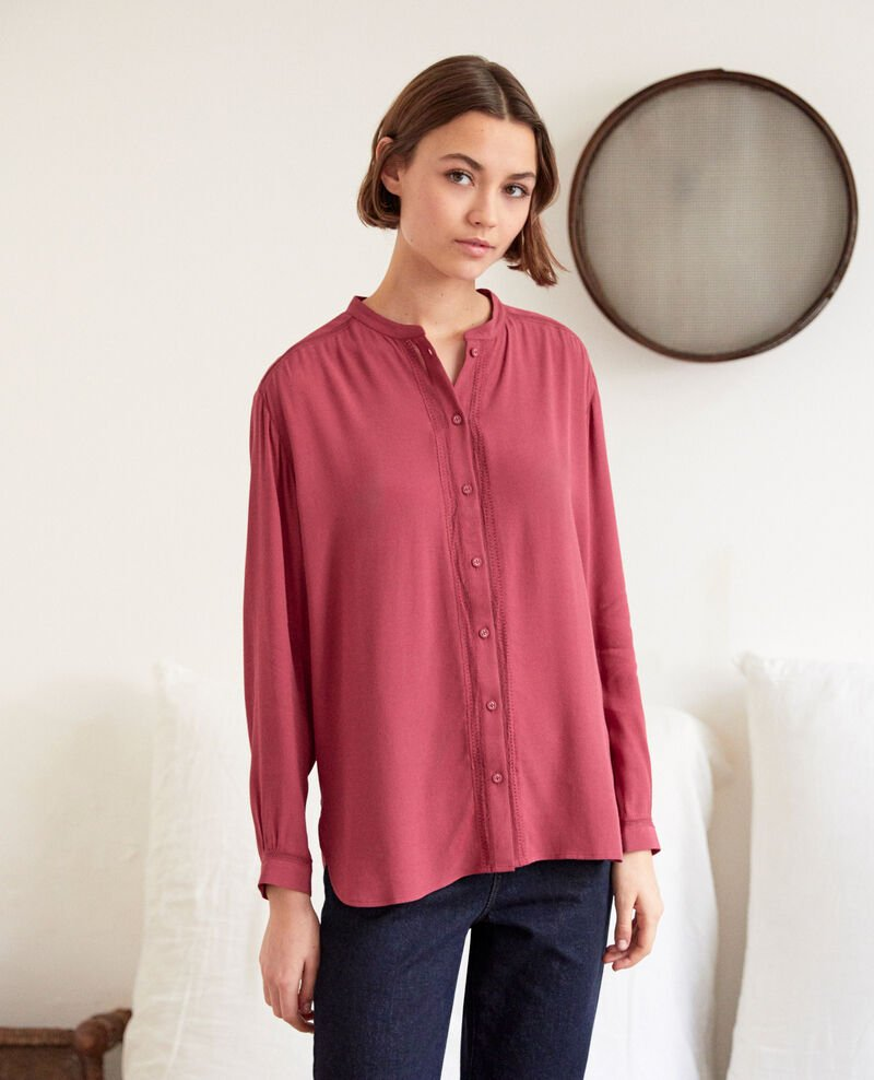Straight-cut tunic Earth red Giluce