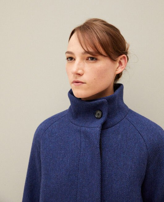 Coat with stand-up collar PEACOAT