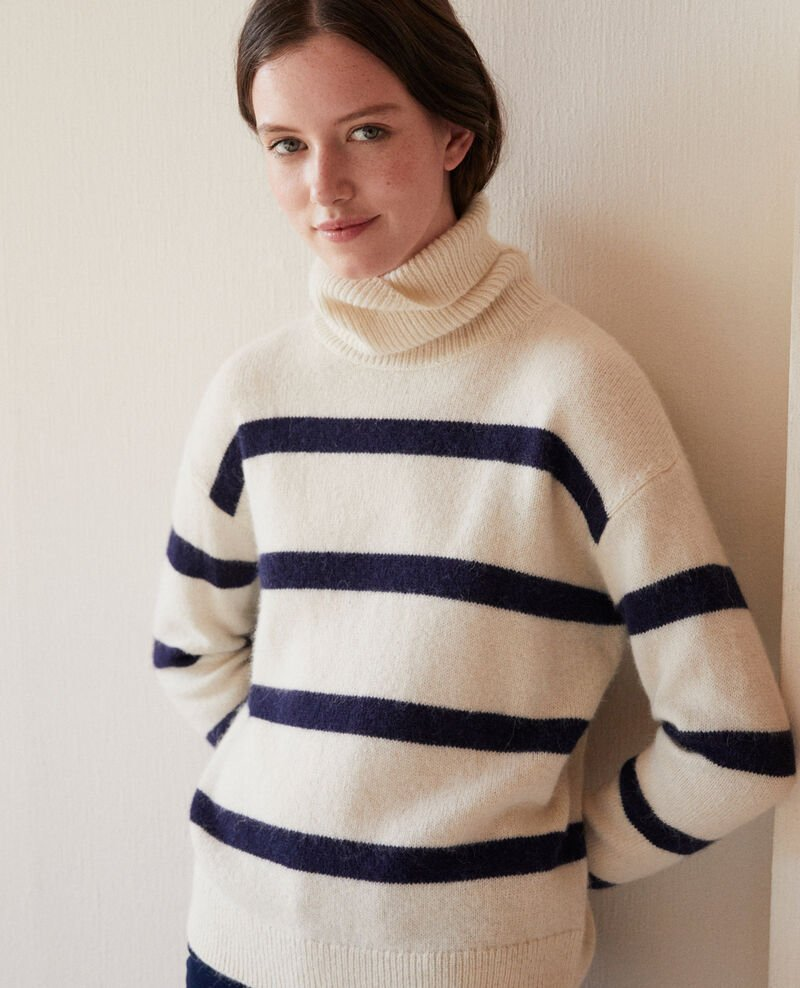 Roll neck jumper White Garin