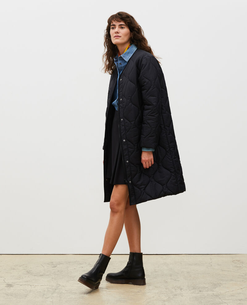 V-neck down coat  Black beauty Matoury