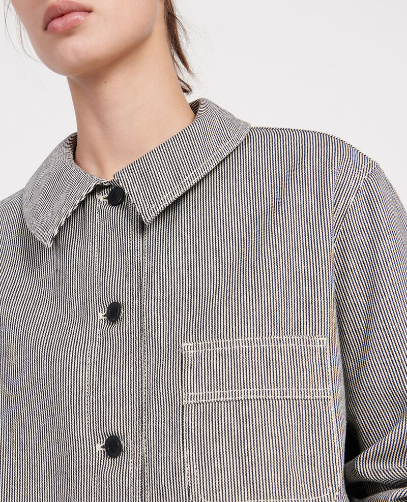 Cotton work jacket Denim stripes Lalipine