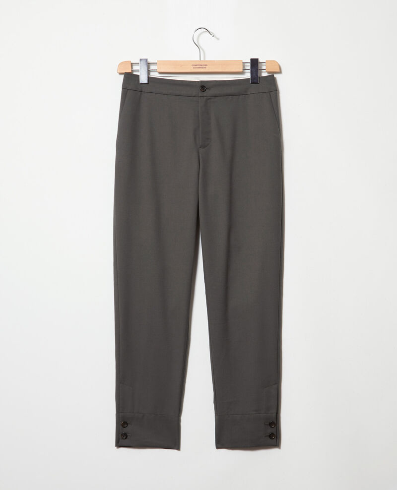 Straight-leg trousers Olive green Ivaline