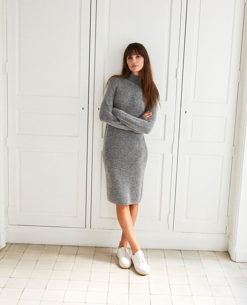 Long knitted dress Middle grey Joupalou