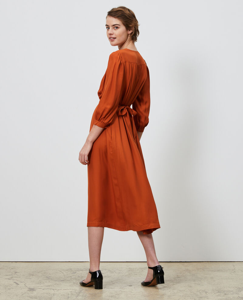 Loose belted maxi dress Umber Nature